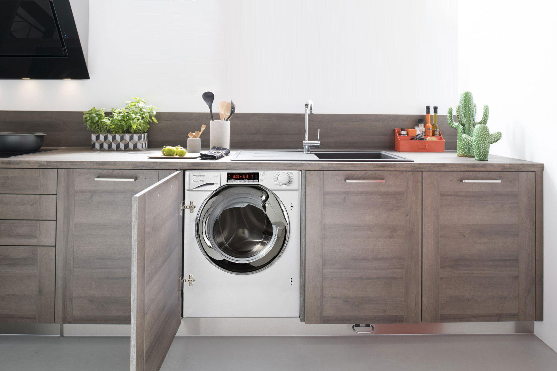 Achat lave linge encastrable pas cher pose libre ou - Meuble machine a laver encastrable ...